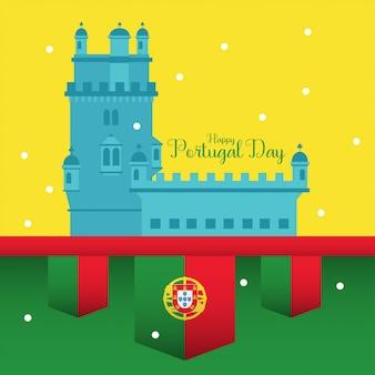 Happy portugal day illustration