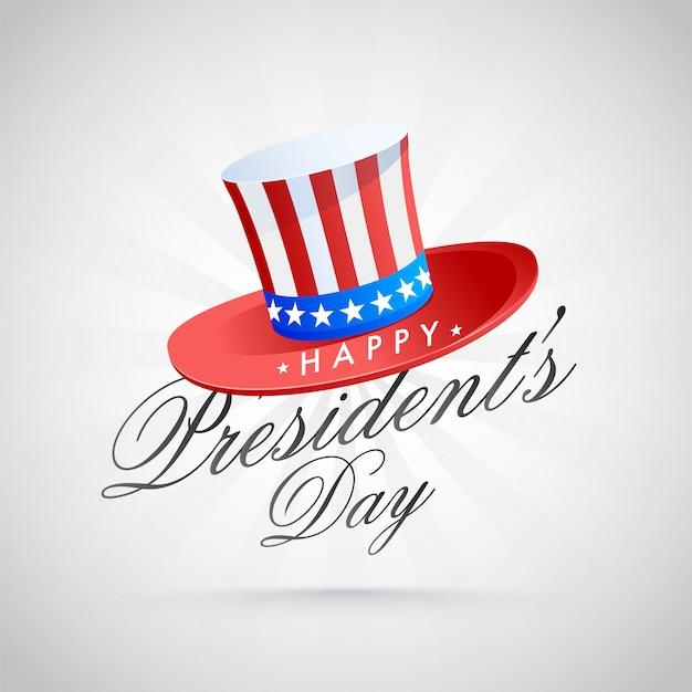 Happy president day background.