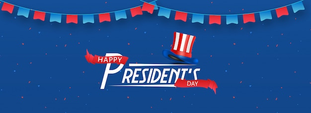 Happy president day background.