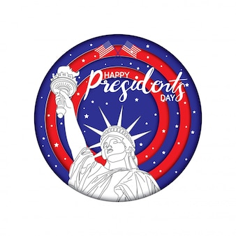 Happy president's day badge