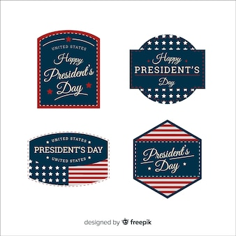 Happy president's day label collection
