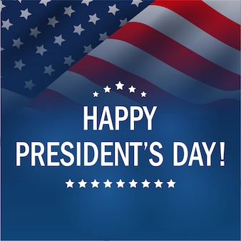 Happy presidents day background.
