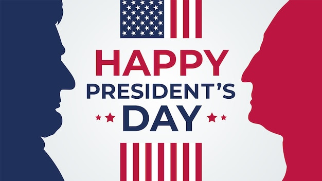 Happy presidents day celebrate banner holiday greetings.