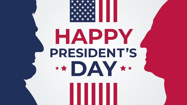 幸せな大統領の日は、バナーの休日の挨拶を祝います。