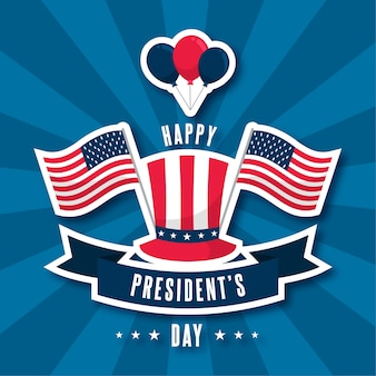 Happy presidents day concept