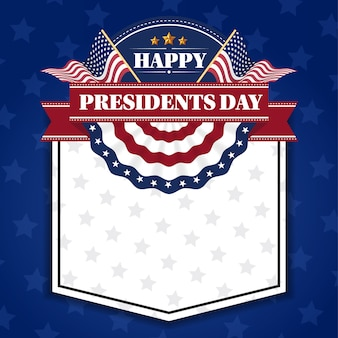 Happy presiidents day banner background and greeting cards