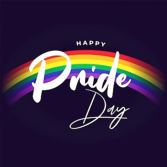 背景には、自由の象徴に虹とハッピープライドデーの背景。