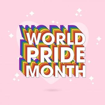 Концепция happy pride day для сообщества лгбтк.