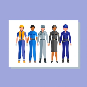 Happy profession worker day 1 may employe banner