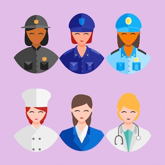 Happy profession worker day 1 may employe women icon