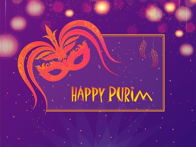 Happy purim background.
