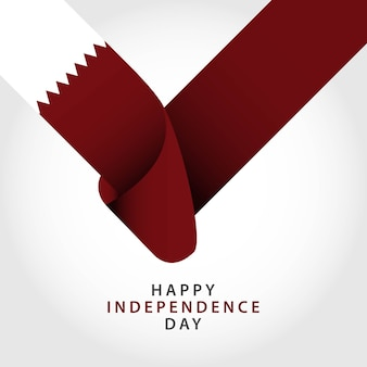 Happy qatar independence day vector template