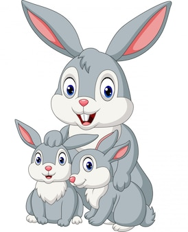 Счастливая семья кроликов