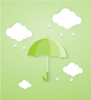 モンスーンシーズンの雨の日。 Premiumベクター