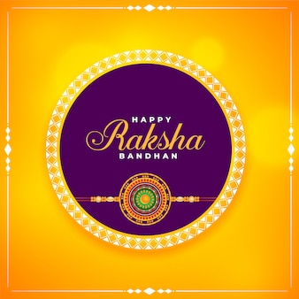 Happy rakha bandhan brother and sister festival card design