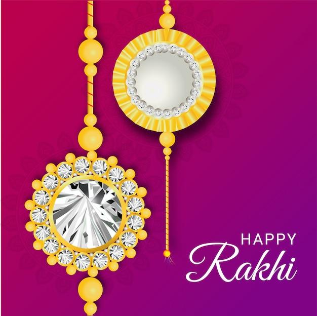 Happy rakhi festival background decorated