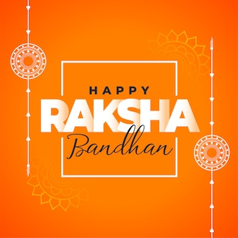 Happy raksha bandan traditional decorative wishes card design