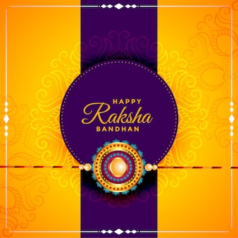 Happy raksha bandhan beautiful greeting card