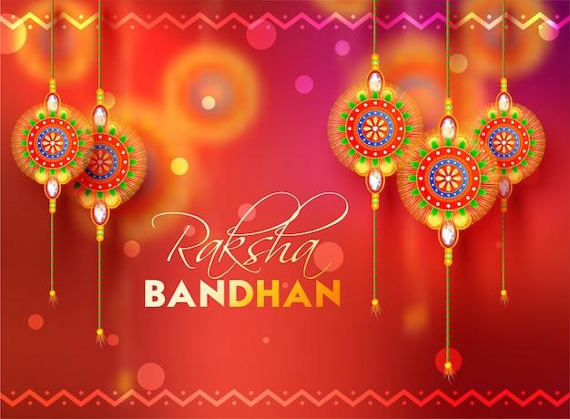 Happy raksha bandhan celebration background.