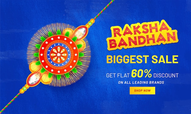 Счастливый ракша bandhan праздник фон.