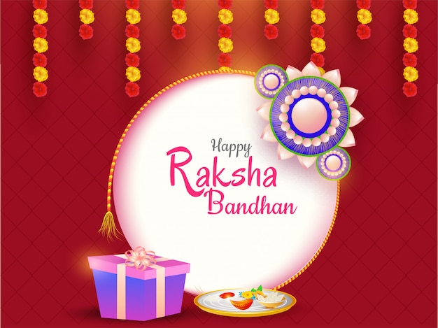 Happy raksha bandhan celebration background.