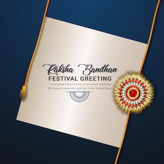 Happy raksha bandhan celebration concept