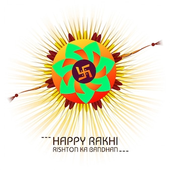 Happy Raksha Bandhan celebration greeting card