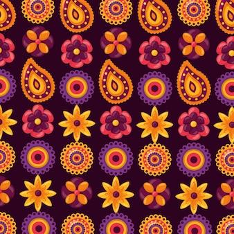 Happy raksha bandhan celebration seamless pattern