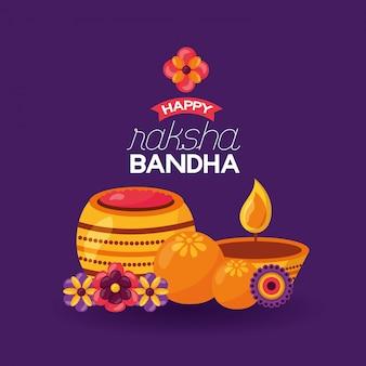 Happy raksha bandhan celebration