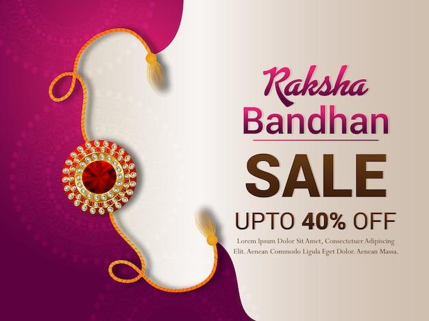 Happy raksha bandhan design with sale banner