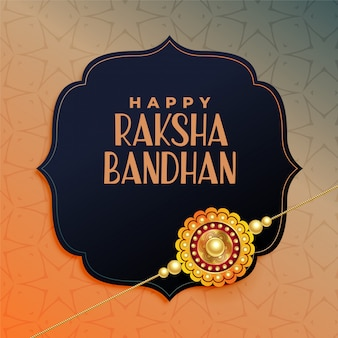 Happy raksha bandhan, elegant rakhi festival greeting design
