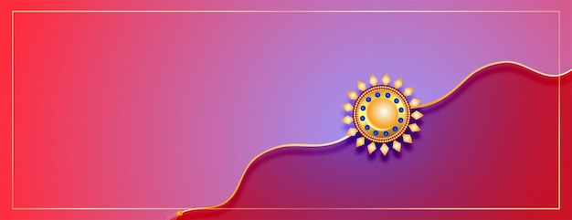 Happy raksha bandhan event banner with text space