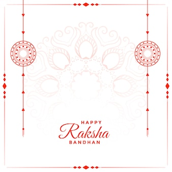Happy raksha bandhan festival background with text space