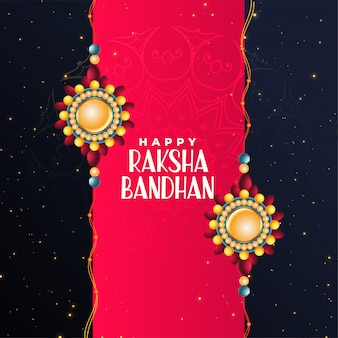 Happy raksha bandhan festival beautiful greeting