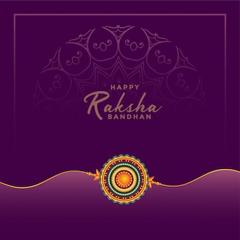 Happy raksha bandhan festival greeting card
