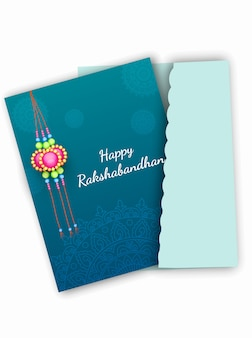 Happy raksha bandhan greeting card design