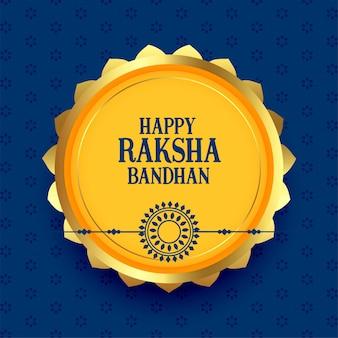 Happy raksha bandhan greeting festival card design