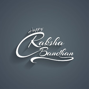 Happy raksha bandhan grey background