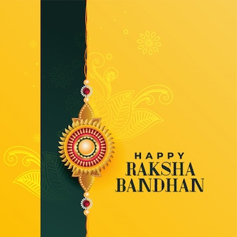 Happy raksha bandhan indian festival, beautiful greeting card
