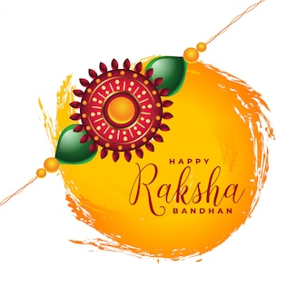 Happy raksha bandhan indian festival card design
