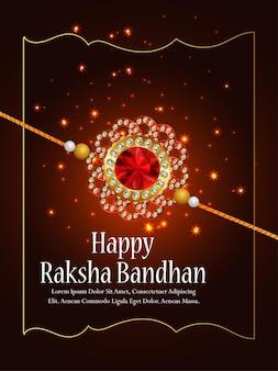Happy raksha bandhan indian festival celebration background