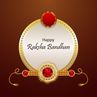 Happy raksha bandhan invitation greeting card with creative vector illustration on creative background