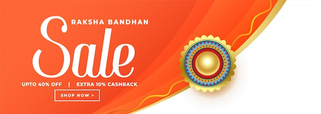 Happy raksha bandhan orange sale banner