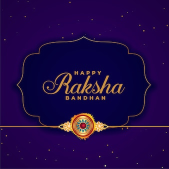 Happy raksha bandhan purple background with rakhi