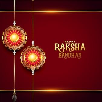 Felice raksha bandhan realistico disegno di saluto del festival