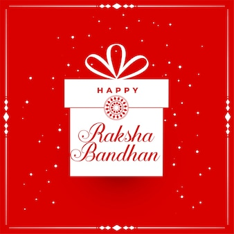 Happy raksha bandhan red background with gift