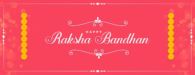 Happy raksha bandhan stylish pink banner
