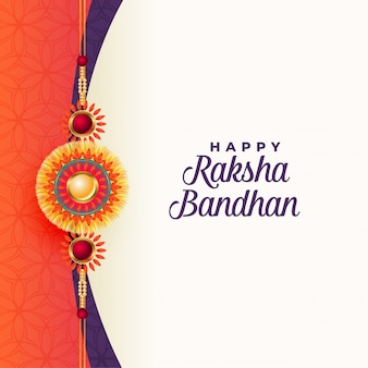 Happy raksha bandhan traditional greeting card