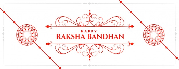 Happy raksha bandhan traditional indian festival banner