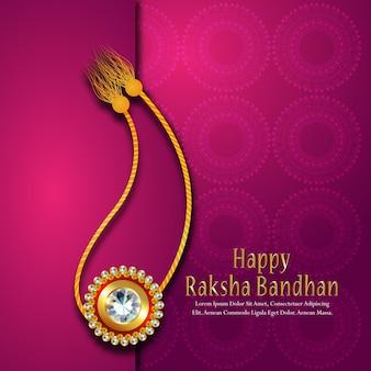 Happy raksha bandhan white creative background
